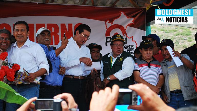Pallasca: Ollanta Humala entregó nuevo puente Quiroz 14