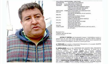 Martín Espinal será enviado a penal si no concurre a juicio. 27