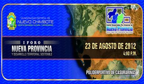 Proponen creación de la provincia de Nuevo Chimbote. 22