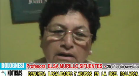 Hermana de Martín Espinal detras de abusos en Ugel Pallasca 22