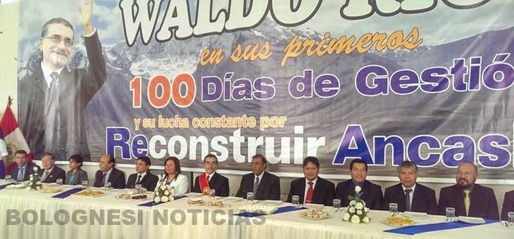 Huaraz: Waldo Ríos celebra 100 días y desaira Consejo Regional 6
