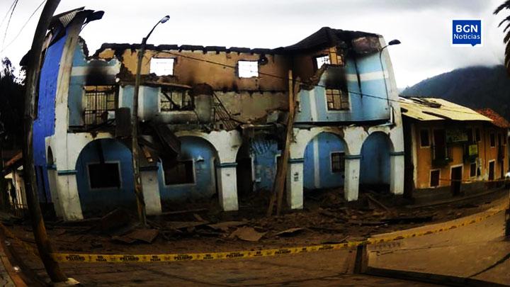 Áncash: así quedó la municipalidad de Huandoval [video]. 1
