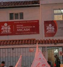 Solo dos candidaturas al gobierno regional de Áncash están como inscritas ante el JEE 11