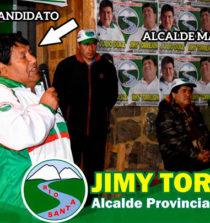 Candidato a la Municipalidad Provincial de Pallasca, es proveedor y le vende hasta piedras 14
