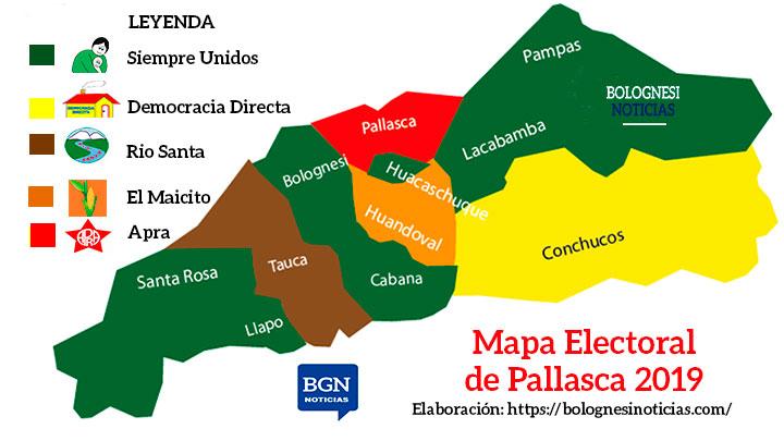 As 237 Qued 243 El Mapa Electoral En Pallasca Tras Comicios Del