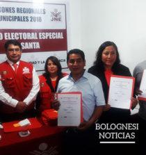 JEE del Santa entregó credenciales a nuevas autoridades de Pallasca 1