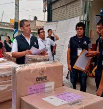 ODPE Santa entregó material electoral a 36 distritos y 14 centros poblados