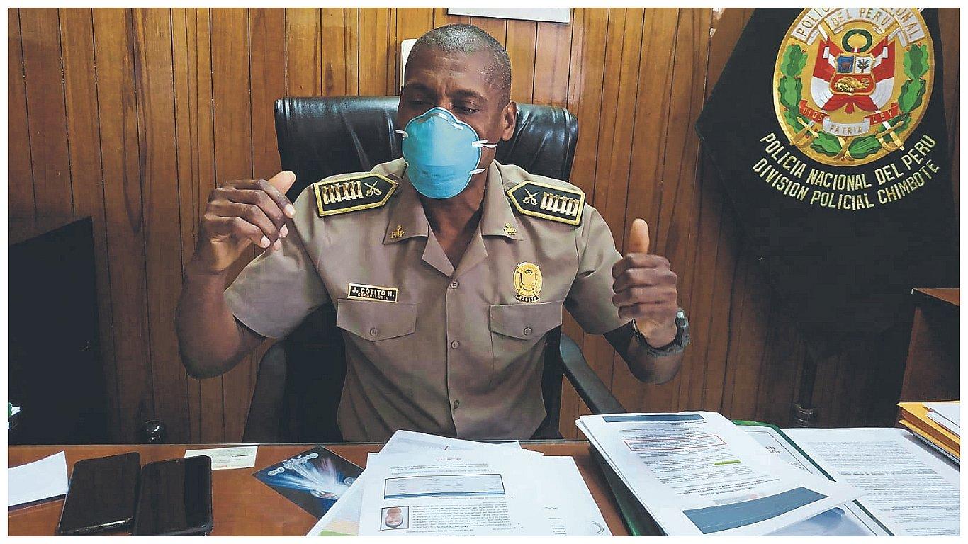 Diez policías de Chimbote aislados por sospecha de coronavirus