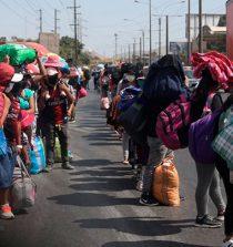 Más de 500 personas caminan hacia Áncash por la Panamericana Norte