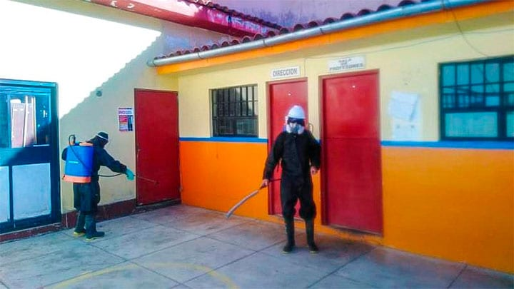 INPE fumigó penal de Huaraz