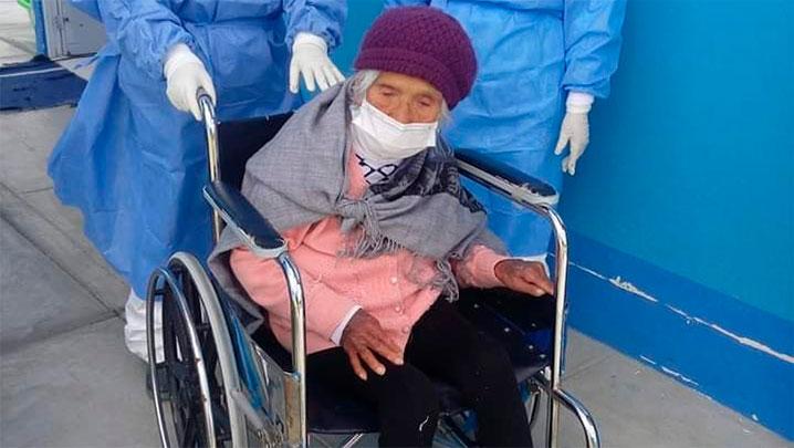 anciana de 99 años sobreviviente del terremoto de 1970 venció al COVID-19