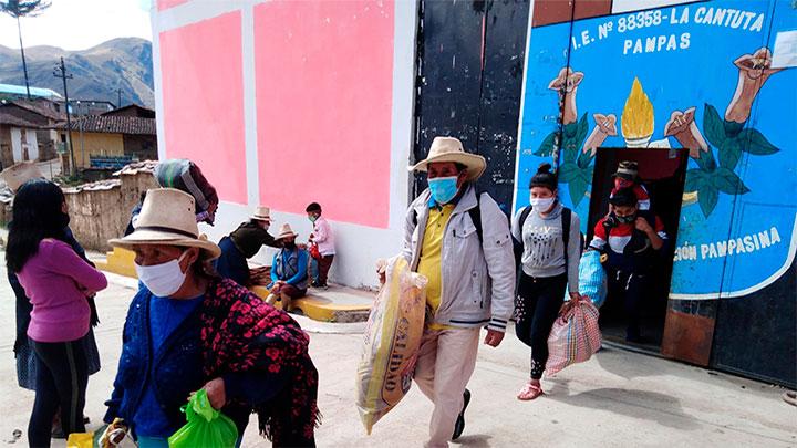 Pallasca: 18 pobladores salieron de cuarentena en Pampas