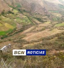 Áncash: volquete se despista en Conchucos y mueren dos personas