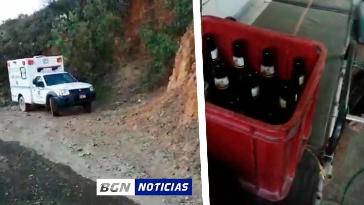Policía de Cabana interviene ambulancia y encuentra cajas de cerveza