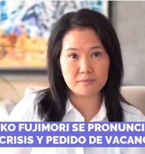 Keiko Fujimori: No existen los elementos ni los procedimientos para vacar