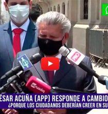 César Acuña no sabe cuantos integrantes tiene su bancada