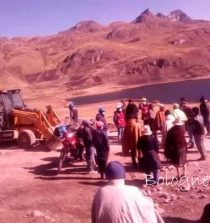 Pobladores de Pampas paralizan obra de vía a Nauchavana